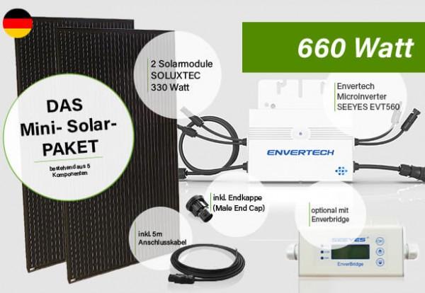 """""""Mini PV-, Balkon-, Solar-Anlage 660 Watt"""""""
