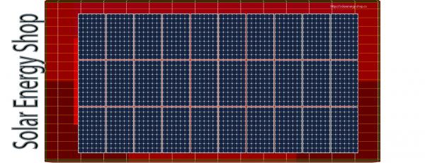 UK für 9,9 kWp Ziegel Schrägdach 1-lagig für 30 Module