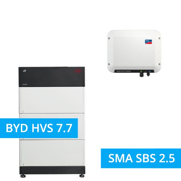 BYD BATTERY-BOX PREMIUM HVS 7.7 mit SMA SBS 2.5