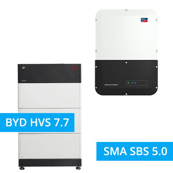 BYD BATTERY-BOX PREMIUM HVS 7.7 mit SMA SBS 5.0